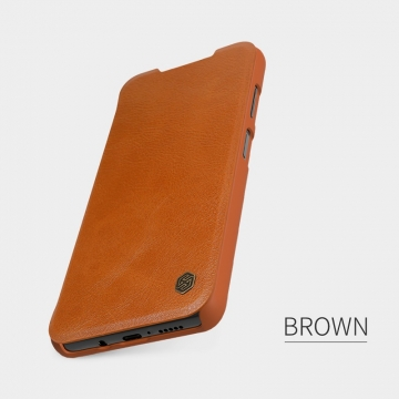 Чехол-книжка Nillkin (серия Qin) для смартфона Xiaomi Mi10T Lite / Xiaomi Redmi Note 9 Pro 5G (China), смарт-чехол, чехол-книжка, противоударный чехол, горизонтальный флип, пластик, искусственная кожа, PU, чёрный, коричневый, красный, Киев