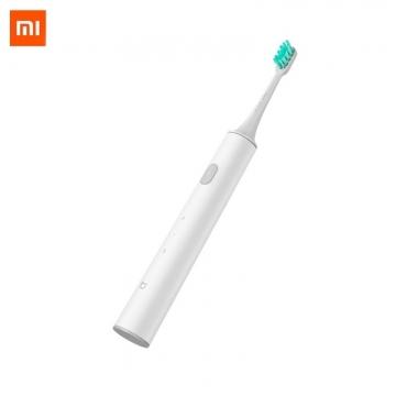 Электрическая зубная щётка Xiaomi Mijia Sonic Electric Toothbrush T300, MES602, ABS пластик, сменные чистящие насадки со щетинками от компании DuPont, 31000 колебаний щетинок в минуту, 2 режима чистки, влагозащита IPX7 (щётку можно мыть в воде), батарея 700 мА/ч, одного заряда хватает до 25 дней, зарядка до 100% за 4 часа, USB Type-C, светодиодная индикация режимов работы и зарядки, белый, Киев