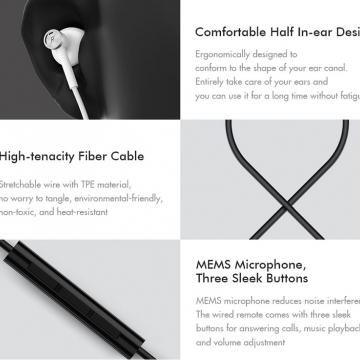 Гарнитура Xiaomi Mi Dual Driver Earphones, проводные вкладыши,Half In-Ear, пластик, мягкий термопластичный эластомер, TPE, керамический динамик, двойной динамический излучатель, 20 – 40 000 Гц, сопротивление: 32 Ом, чувствительность: 105 дБ, мощность: 5 мВт, микрофон MEMS (микроэлектромеханические системы), Hi-Res Audio, длина кабеля 1,25 м, 3-кнопочный пульт управления, Г-образный штекер: 3,5 мм, чёрный, белый, Киев