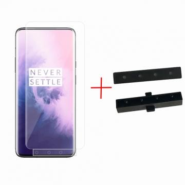 Гидрогелевая защитная плёнка для смартфона OnePlus 7 Pro, в комплект входят 2 плёнки, бронированная плёнка, полноэкранная плёнка (закрывает экран смартфона полностью), клеится к экрану смартфона всей поверхностью, клеится без использования жидкости, самовосстанавливающаяся плёнка, не влияет на чувствительность сенсора, не искажает цвета, олеофобное покрытие, пластиковый держатель для точного позиционирования плёнки на экране, шпатель для разглаживания плёнки, Киев