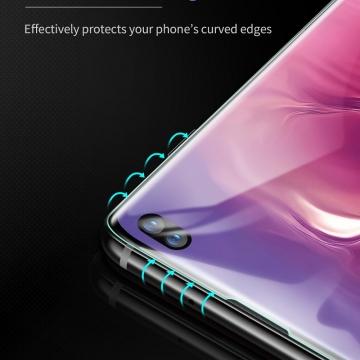 Гидрогелевая защитная плёнка для смартфона Samsung Galaxy S10+, в комплект входят 2 плёнки, бронированная плёнка, полноэкранная плёнка (закрывает экран смартфона полностью), клеится к экрану смартфона всей поверхностью, клеится без использования жидкости, самовосстанавливающаяся плёнка, не влияет на чувствительность сенсора, не искажает цвета, олеофобное покрытие, пластиковый держатель для точного позиционирования плёнки на экране, шпатель для разглаживания плёнки, Киев