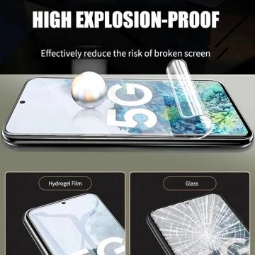 Гидрогелевая защитная плёнка для смартфона Samsung Galaxy S20 FE / Galaxy A51 / Galaxy A52, в комплект входят 2 плёнки, бронированная плёнка, полноэкранная плёнка (закрывает экран смартфона полностью), клеится к экрану смартфона всей поверхностью, клеится без использования жидкости, самовосстанавливающаяся плёнка, не влияет на чувствительность сенсора, не искажает цвета, олеофобное покрытие, пластиковый держатель для точного позиционирования плёнки на экране, шпатель для разглаживания плёнки, Киев