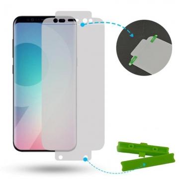 Гидрогелевая защитная плёнка для смартфона Samsung Galaxy S9, в комплект входят 2 плёнки, бронированная плёнка, полноэкранная плёнка (закрывает экран смартфона полностью), клеится к экрану смартфона всей поверхностью, клеится без использования жидкости, самовосстанавливающаяся плёнка, не влияет на чувствительность сенсора, не искажает цвета, олеофобное покрытие, пластиковый держатель для точного позиционирования плёнки на экране, шпатель для разглаживания плёнки, Киев