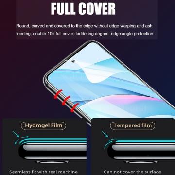 Гидрогелевая защитная плёнка для смартфона Xiaomi Mi10T Lite / Xiaomi Redmi Note 9 Pro 5G (China), в комплект входят 2 плёнки, бронированная плёнка, полноэкранная плёнка (закрывает экран смартфона полностью), клеится к экрану смартфона всей поверхностью, клеится без использования жидкости, самовосстанавливающаяся плёнка, не влияет на чувствительность сенсора, не искажает цвета, олеофобное покрытие, пластиковый держатель для точного позиционирования плёнки на экране, шпатель для разглаживания плёнки, Киев