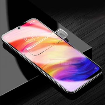 Гидрогелевая защитная плёнка для смартфона Xiaomi Redmi 7, в комплект входят 2 плёнки, бронированная плёнка, полноэкранная плёнка (закрывает экран смартфона полностью), клеится к экрану смартфона всей поверхностью, клеится без использования жидкости, самовосстанавливающаяся плёнка, не влияет на чувствительность сенсора, не искажает цвета, олеофобное покрытие, пластиковый держатель для точного позиционирования плёнки на экране, шпатель для разглаживания плёнки, Киев