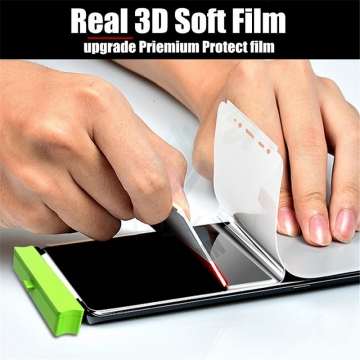 Гидрогелевая защитная плёнка для смартфона Xiaomi Redmi Note 7 / Redmi Note 7 Pro, в комплект входят 2 плёнки, бронированная плёнка, полноэкранная плёнка (закрывает экран смартфона полностью), клеится к экрану смартфона всей поверхностью, клеится без использования жидкости, самовосстанавливающаяся плёнка, не влияет на чувствительность сенсора, не искажает цвета, олеофобное покрытие, пластиковый держатель для точного позиционирования плёнки на экране, шпатель для разглаживания плёнки, Киев