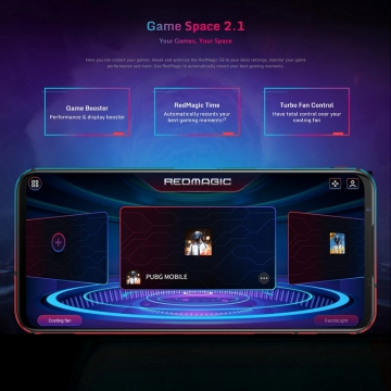 Игровой смартфон ZTE Nubia Red Magic 5G с поддержкой CDMA, 2 SIM-карты, 4G LTE, 5G, Snapdragon 865, Game Space 2.1, игровые триггеры, 12 Гб RAM + 256 Гб ROM, экран 6,65'' AMOLED, частота 144 Гц, Gorilla Glass, тройная основная камера 64 МП, аккумулятор 4500 мА/ч, быстрая зарядка 55 Вт, водяное охлаждение, турбо вентилятор, стереодинамики, сканер отпечатков пальцев, Wi-Fi 6, Bluetooth 5.1, GPS, OTG, NFC Google Pay бесконтактные платежи, USB Type-C, Android 10, УКРАЇНСЬКА МОВА, РУССКИЙ ЯЗЫК, Google Play, Киев