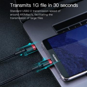Кабель Baseus Cafule 60 Вт (USB Type-C – USB Type-C), луженая медь, термопластичный эластомер и нейлоновая оплётка, разъёмы из алюминиевого сплава, быстрая зарядка Qualcomm Quick Charge 4.0, USB Power Delivery 2.0 до 20 В / 3 А, скорость передачи данных: до 480 Мб/с, застёжка Velcro (липучка), Киев