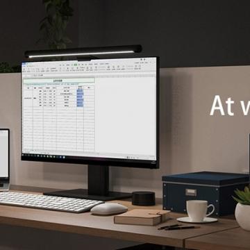Лампа для компьютерного монитора Xiaomi Mijia Display Hanging Lamp, магнитное крепление лампы к базе, гравитационный вал с регулируемым углом 40°, для мониторов толщиной 1 – 32 мм, изменяемый угол наклона светового потока, вращение лампы на магнитах в пределах 25°, не даёт бликов на мониторе, управление при помощи беспроводного пульта дистанционного управления, цветовая температура: 2700 – 6500 К, USB Type-C, Киев