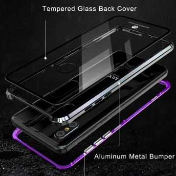 Магнитный чехол Luphie с задней стеклянной панелью для смартфона Xiaomi Mi Mix 3, противоударный бампер, рама из магналия, сплав алюминия и магния, задняя панель из закалённого стекла, бронированное стекло, соединяются магнитами, 9H, не влияет на качество приёма / передачи сигнала, не мешает беспроводной зарядке, чёрный, серебряный, синий, фиолетовый, красный, Киев