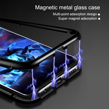 Магнитный чехол Luphie с задней стеклянной панелью для смартфона Xiaomi Mi8 Lite, противоударный бампер, рама из магналия, сплав алюминия и магния, задняя панель из закалённого стекла, бронированное стекло, соединяются магнитами, 9H, не влияет на качество приёма / передачи сигнала, не мешает беспроводной зарядке, чёрный, серебряный, красный, Киев