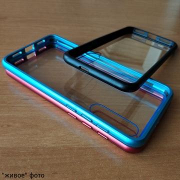 Магнитный чехол Luphie с задней стеклянной панелью для смартфона Xiaomi Mi9 SE, противоударный бампер, рама из магналия, сплав алюминия и магния, задняя панель из закалённого стекла, бронированное стекло, соединяются магнитами, 9H, не влияет на качество приёма / передачи сигнала, не мешает беспроводной зарядке, чёрный, синий, красный, Киев