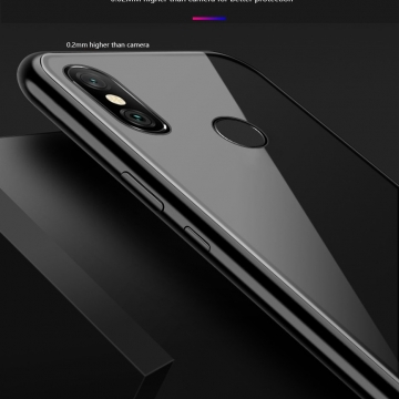 Магнитный чехол Luphie с задней стеклянной панелью для смартфона Xiaomi RedMi Note 6 Pro, противоударный бампер, рама из магналия, сплав алюминия и магния, задняя панель из закалённого стекла, бронированное стекло, соединяются магнитами, 9H, не влияет на качество приёма / передачи сигнала, не мешает беспроводной зарядке, чёрный, серебряный, красный, Киев