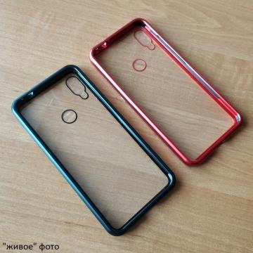 Магнитный чехол Luphie с задней стеклянной панелью для смартфона Xiaomi Redmi Note 7 / Redmi Note 7 Pro, противоударный бампер, рама из магналия, сплав алюминия и магния, задняя панель из закалённого стекла, бронированное стекло, соединяются магнитами, 9H, не влияет на качество приёма / передачи сигнала, не мешает беспроводной зарядке, чёрный, серебряный, красный, Киев