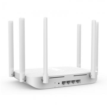 Маршрутизатор (роутер) Xiaomi Redmi Wi-Fi Router AC2100, ABS пластик, 6 внешних всенаправленных антенн с высоким коэффициентом усиления, процессор MediaTek MT7621A MIPS, 880 МГц, оперативная память 128 Мб, внутренняя память 128 Мб, Wi-Fi 802.11a/b/g/n/ac (двухдиапазонный – 2,4 ГГц и 5 ГГц), скорость передачи данных до 1733 Мб/с, 3 порта LAN 1000, 1 порт WAN 1000, количество одновременно подключённых устройств: 128, белый, Киев