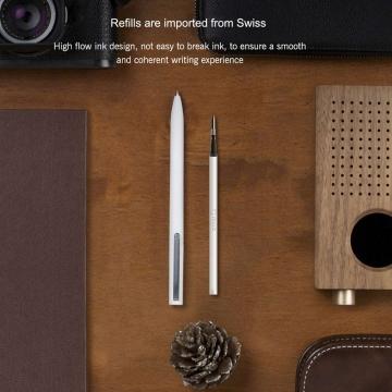 Набор стержней для гелевой ручки Xiaomi Mijia Gel Pen (3 шт.), модель MJZXBX01XM для модели ручки MJZXB01XM, корпус из пластика, наконечник стержня из карбида вольфрама, чернила фирмы MIKUNI (Япония) в ампуле PREMEC (Швейцария), быстросохнущие чернила, не оставляют клякс, толщина наконечника: 0,5 мм, наконечник подпружинен, нет протечки чернил, цвет чернил чёрный, Киев