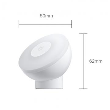 Ночник с датчиком движения Xiaomi Mijia Night Light 2 (Bluetooth Version), MJYD02YL-A, ABS пластик, магнитное крепление лампы к подставке, вращение лампы на 360°, датчики движения (инфракрасный сенсор) и освещённости, автоматическое выключение через 15 секунд при отсутствии движения, умный дом, Mijia App, Android 4.4 и выше и iOS 9.0 и выше, плавная регулировка уровня яркости в приложении от 2,5 лм до 25 лм, 2800 K тёплый свет, время автономной работы до 17 месяцев, белый, Киев