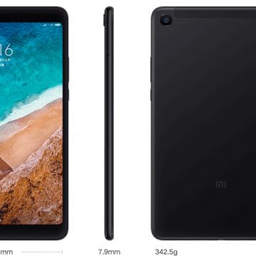 Планшетный компьютер Xiaomi Mi Pad 4 (4 + 64 Гб), планшет, цельнометаллический корпус, Snapdragon 660, Adreno 512, 4 Гб RAM + 64 Гб ROM, отдельный слот для карт памяти до 256 Гб, экран 8'' IPS 1920 * 1200, 16:10, основная камера 13 MP, фронтальная камера 5 MP, аккумулятор 6000 мА/ч, стереодинамики, Wi-Fi, Bluetooth 5.0, OTG, USB Type-C, MIUI 9, Android 8.1, Киев