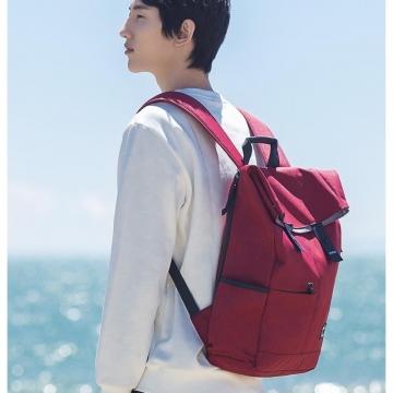 Рюкзак Xiaomi U'revo Backpack, кордура CORDURA с водоотталкивающей пропиткой, IPX4, четырёхкратная стойкость к истиранию по сравнению с простым нейлоном, плотность волокон ткани 600 den, высокая прочность на разрыв, вмещает 15,6-дюймовый ноутбук, застёжки магниты, застёжки-молнии, белый, жёлтый, красный, бордовый, объём 13 л, Киев