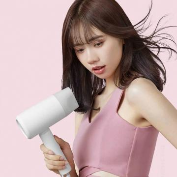 Складной фен Xiaomi Mijia Anion Portable Hair Dryer H100, складной фен, встроенный генератор отрицательных ионов, нейтрализуют статический заряд и препятствуют их спутыванию, мощность 1600 Вт, 2 скоростных режима, 2 температурных режима, модуль умного контроля температуры, двухуровневая защита от перегрева, вентилятор из 6 лопастей с пониженным уровнем шума, скорость вращения 18000 оборотов в минуту, белый, розовый, Киев