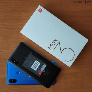 Смартфон Xiaomi Mi Max 3, металлический корпус, 2 SIM-карты, Интертелеком, CDMA, 4G LTE, Snapdragon 636, Adreno 509, 6 Гб RAM + 128 Гб ROM, экран 6,9'' IPS 2160 * 1080, 18:9, двойная основная камера 12 MP + 5 MP, селфи камера 8 MP, светодиодные вспышки на основной и на селфи камерах, аккумулятор 5500 мА/ч, сканер отпечатков пальцев, Bluetooth 5.0, GPS, FM Radio, OTG, инфракрасный порт, аудиовыход 3,5 мм, стереодинамики, USB Type-C, MIUI 10, Android 8.1, УКРАЇНСЬКА МОВА, РУССКИЙ ЯЗЫК, GOOGLE PLAY, Киев
