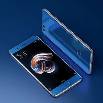 Смартфон Xiaomi Mi Note 3 (4 + 64 Гб), стеклянный корпус, рама из нержавеющей стали, 2 SIM-карты, 8-ядерный процессор Snapdragon 660, Adreno 512, 4 Гб RAM + 64 Гб ROM, экран 5,5'' IPS 1920*1080, 2,5D, двойная основная камера 12 MP (Sony IMX 386) + 12 MP (Samsung), фронтальная камера 16 MP, функция распознавания лица, аккумулятор 3500 мА/ч, Quick Charge 3.0, сканер отпечатков пальцев, 2Х2 Wi-Fi MU-MIMO, Bluetooth 5.0, GPS, OTG, NFC, USB Type-C, MIUI 9, 7.1.1, Киев