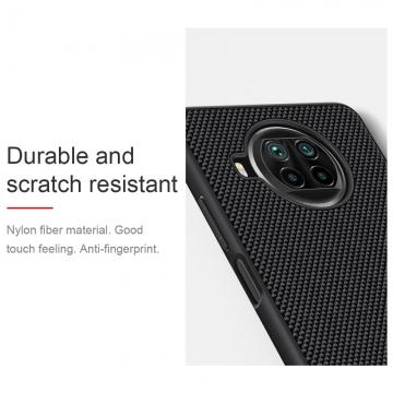 Текстурированный чехол-накладка Nillkin для смартфона Xiaomi Mi10T Lite / Xiaomi Redmi Note 9 Pro 5G (China), textured case, противоударный бампер, рифлёный пластик с нейлоновым волокном, рама из термополиуретана, логотип Nillkin, двойное отверстие для крепления ремешка, чёрный, Киев