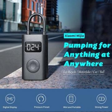 Умный насос Xiaomi Mijia Electric Pump, не нуждается в подключении к источнику питания во время работы, литиевый аккумулятор 2000 мА/ч (14,8 Вт/ч), давление 0,2 – 10,3 бар (до 10,5 кг/см2), LED дисплей, электронный манометр (определение текущего давления), изменяемые пресеты давления, по достижению заданного показателя подкачка автоматически прекращается, система теплоотведения, втроенный светодиодный фонарик, индикатор уровня заряда батареи, microUSB, Киев