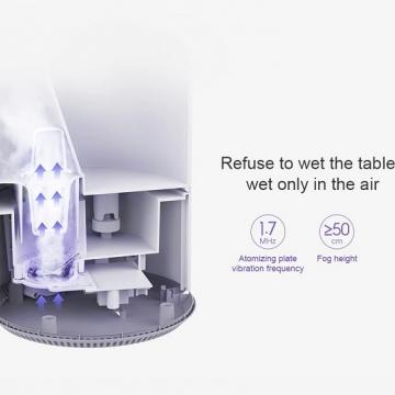 Увлажнитель воздуха Xiaomi Mijia Humidifier 4L, ABS пластик, объём резервуара для воды 4 л, до 36 часов работы на одной заправке, расход воды: 280 мл/ч, антибактериальная обработка воды ионами серебра, уничтожает до 99% бактерий, высокочастотный ультразвуковой распылитель (частота 1,7 МГц), защита от работы без воды, ручное механическое управление, световой индикатор, уровень шума ≤ 38 дБ, мощность 17,5 Вт, белый, Киев