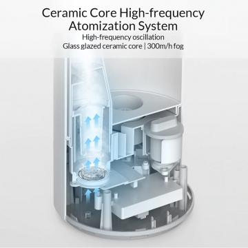 Увлажнитель воздуха Xiaomi Mijia Smart Sterilization Humidifier, SCK0A45, ABS пластик, объём резервуара для воды: 4,5 л, до 15-25 часов работы на одной заправке, заливка воды через верх, расход воды: 300 ± 50 мл/ч, ультрафиолетовая лампа UV-C обеззараживает воду перед её распылением, высокочастотный ультразвуковой резонатор с керамическим сердечником, 4 режима интенсивности увлажнения, автоматический режим, подсветка, управление автономное или через программу Mi Home, уровень шума: ≤ 38 дБ, белый, Киев