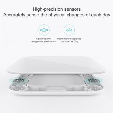 Умные весы Xiaomi Mi Scale 2, пластик + закалённое стекло, высокоточный сенсор из марганцовистой стали, диапазон измерения веса: 100 г – 150 кг, шаг измерения: 50 г, контроль изменения веса при помощи приложения Mi Fit, функция калькуляции идеального веса, функция контроля баланса тела, индивидуальные параметры 16 человек, bluetooth 5.0, килограммы, фунты, кэтти (китайские фунты), светодиодное табло, батарейки ААА (3 шт.), Android 4.4 и выше, iOS 9.0 и выше, белый, Киев