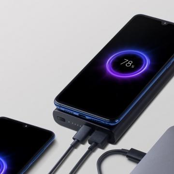 Внешнее зарядное устройство с поддержкой беспроводной зарядки Xiaomi Wireless Power Bank (10000 мА/ч), одновременная зарядка трёх устройств, USB Type-C (вход и выход), USB Type-A (выход), двусторонняя быстрая зарядка, беспроводная зарядка Qi, максимальная мощность беспроводной зарядки: 10 Вт, возможность зарядки смартфона в защитном чехле, 9-уровневая защита от замыканий, перегрузок, перегрева, попадания инородных металлических объектов, световая индикация заряда батареи, чёрный, Киев