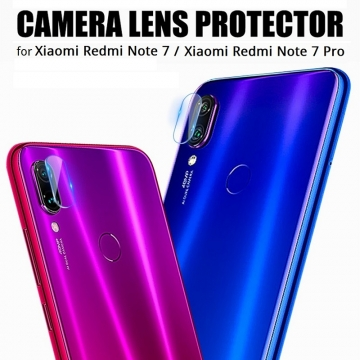 Защитное стекло для камеры смартфона Xiaomi Redmi Note 7 / Redmi Note 7 Pro, бронированное стекло, толщина 0,2 мм, показатель по минералогической шкале твёрдости (шкала Мооса от 1 до 10): 9H (твёрдость алмаза 10H), в 4 раза более устойчиво к царапинам, чем обычная защитная плёнка, не влияет на качество съёмки, прозрачное, Киев