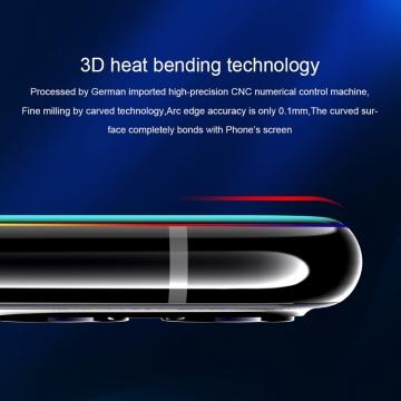 Защитное стекло Nillkin 3D CP+Max (Full Glue) для смартфона Xiaomi Mi10 / Xiaomi Mi10 Pro, закалённое стекло, бронированное стекло, клеится к экрану смартфона всей поверхностью, 9H, толщина 0,33 мм, не влияет на чувствительность сенсора, не искажает цвета, антибликовое покрытие, олеофобное покрытие, стекло с закруглёнными краями 2.5D, 2,5D, 3D, 5D, 6D, прозрачное с чёрной рамкой, liquid, Киев