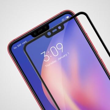 Защитное стекло Nillkin CP+ (3D Full Glue) для смартфона Xiaomi Mi8 Lite, закалённое стекло, бронированное стекло, клеится к экрану смартфона всей поверхностью, 9H, толщина 0,2 мм, не влияет на чувствительность сенсора, не искажает цвета, антибликовое покрытие, олеофобное покрытие, стекло с закруглёнными краями 2.5D, 2,5D, 3D, 5D, 6D, прозрачное с чёрной или белой рамкой, liquid, Киев