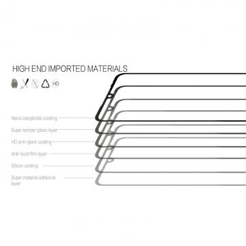 Защитное стекло Nillkin CP+ (3D Full Glue) для смартфона Xiaomi Mi9, закалённое стекло, бронированное стекло, клеится к экрану смартфона всей поверхностью, 9H, толщина 0,2 мм, не влияет на чувствительность сенсора, не искажает цвета, антибликовое покрытие, олеофобное покрытие, стекло с закруглёнными краями 2.5D, 2,5D, 3D, 5D, 6D, прозрачное с чёрной или белой рамкой, liquid, Киев