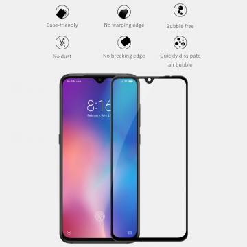 Защитное стекло Nillkin XD CP+Max (Full Glue) для смартфона Xiaomi Mi9, закалённое стекло, бронированное стекло, клеится к экрану смартфона всей поверхностью, дополнительно усилены края стекла, 9H, толщина 0,33 мм, не влияет на чувствительность сенсора, не искажает цвета, антибликовое покрытие, олеофобное покрытие, стекло с закруглёнными краями 2.5D, 2,5D, 3D, 5D, 6D, прозрачное с чёрной или белой рамкой, liquid, Киев