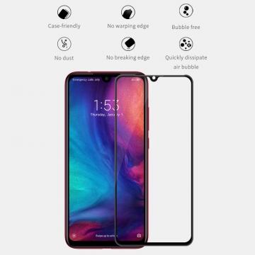 Защитное стекло Nillkin XD CP+Max (Full Glue) для смартфона Xiaomi Redmi Note 7 / Redmi Note 7 Pro, закалённое стекло, бронированное стекло, клеится к экрану смартфона всей поверхностью, дополнительно усилены края стекла, 9H, толщина 0,33 мм, не влияет на чувствительность сенсора, не искажает цвета, антибликовое покрытие, олеофобное покрытие, стекло с закруглёнными краями 2.5D, 2,5D, 3D, 5D, 6D, прозрачное с чёрной или белой рамкой, liquid, Киев