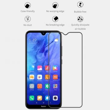 Защитное стекло Nillkin XD CP+Max (Full Glue) для смартфона Xiaomi Redmi Note 8T, закалённое стекло, бронированное стекло, клеится к экрану смартфона всей поверхностью, дополнительно усилены края стекла, 9H, толщина 0,33 мм, не влияет на чувствительность сенсора, не искажает цвета, антибликовое покрытие, олеофобное покрытие, стекло с закруглёнными краями 2.5D, 2,5D, 3D, 5D, 6D, прозрачное с чёрной или белой рамкой, liquid, Киев