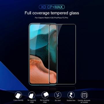 Защитное стекло Nillkin XD CP+Max (Full Glue) для смартфона Xiaomi Redmi K30 Pro / Xiaomi Poco F2 Pro, закалённое стекло, бронированное стекло, клеится к экрану смартфона всей поверхностью, дополнительно усилены края стекла, 9H, толщина 0,33 мм, не влияет на чувствительность сенсора, не искажает цвета, антибликовое покрытие, олеофобное покрытие, стекло с закруглёнными краями 2.5D, 2,5D, 3D, 5D, 6D, прозрачное с чёрной или белой рамкой, liquid, Киев