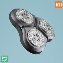 Блок бритвенных головок для электробритвы Xiaomi MiJia Electric Shaver, блок из 3-х плавающих головок, 45 лезвий, система двойных лезвий, сухое бритьё и влажное бритьё, сеточка бреющей головки и лезвия производства компании JFE (Япония), Sandvik (Швеция), Киев