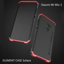 Чехол Element Case Solace для смартфона Xiaomi Mi Mix 2, корпус из поликарбоната, алюминиевые накладки, бампер состоит из трёх частей, скрученных четырьмя винтиками, в комплект входит отвёртка и 2 запасных винтика, резиновые прокладки на внутренней поверхности рамы для защиты корпуса смартфона со встроенными кнопками регулировки громкости и включения / выключения, фабричная упаковка, Киев