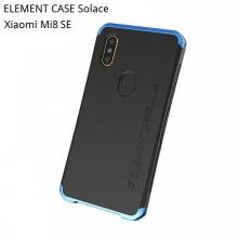 Чехол Element Case Solace для смартфона Xiaomi Mi8 SE, корпус из поликарбоната, алюминиевые накладки, бампер состоит из трёх частей, скрученных четырьмя винтиками, в комплект входит отвёртка и 2 запасных винтика, резиновые прокладки на внутренней поверхности рамы для защиты корпуса смартфона со встроенными кнопками регулировки громкости и включения / выключения, фабричная упаковка, Киев