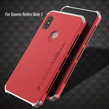 Чехол Element Case Solace для смартфона Xiaomi RedMi Note 5 / RedMi Note 5 Pro, корпус из поликарбоната, алюминиевые накладки, бампер состоит из трёх частей, скрученных четырьмя винтиками, в комплект входит отвёртка и 2 запасных винтика, резиновые прокладки на внутренней поверхности рамы для защиты корпуса смартфона со встроенными кнопками регулировки громкости и включения / выключения, фабричная упаковка, Киев