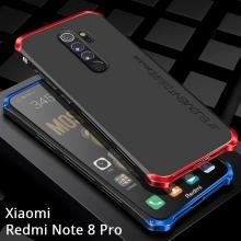 Чехол Element Case Solace для смартфона Xiaomi Redmi Note 8 Pro, противоударный бампер, корпус из поликарбоната, алюминиевые накладки, бампер состоит из трёх частей, скрученных четырьмя винтиками, в комплект входит отвёртка и 2 запасных винтика, резиновые прокладки на внутренней поверхности рамы для защиты корпуса смартфона со встроенными кнопками регулировки громкости и включения / выключения, фабричная упаковка, Киев