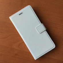 Чехол-книжка для смартфона Xiaomi Mi4, горизонтальный флип, искуственная кожа, PU leather, магнитная защёлка, три отделения для платёжных карт / визиток, возможность трансформации чехла в подставку для просмотра видео, ремешок чёрного цвета, чёрный, белый, коричневый, Киев