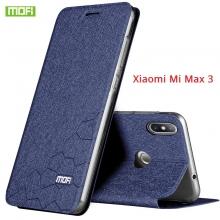 Чехол-книжка MOFI для смартфона Xiaomi Mi Max 3, противоударный чехол, смарт-чехол, горизонтальный флип, силиконовая накладка, флип из искусственной кожи, металлическая пластина внутри флипа, возможность трансформации чехла в подставку для просмотра видео, чёрный, синий, золотой, красный, розовый, Киев