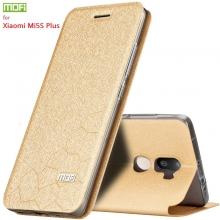 Чехол-книжка MOFI для смартфона Xiaomi Mi5S Plus, противоударный чехол, горизонтальный флип, силиконовая накладка, флип из искусственной кожи, металлическая пластина внутри флипа, смарт-чехол (при закрытии чехла экран выключается), sleep / wake, возможность трансформации чехла в подставку для просмотра видео, чёрный, синий, золотой, серебряный, розовый, Киев