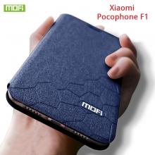 Чехол-книжка MOFI для смартфона Xiaomi Pocophone F1 / Xiaomi Poco F1, противоударный чехол, горизонтальный флип, силиконовая накладка, флип из искусственной кожи, металлическая пластина внутри флипа, возможность трансформации чехла в подставку для просмотра видео, чёрный, синий, золотой, розовый, красный, Киев