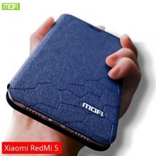 Чехол-книжка MOFI для смартфона Xiaomi RedMi 5, противоударный чехол, горизонтальный флип, силиконовая накладка, флип из искусственной кожи, металлическая пластина внутри флипа, возможность трансформации чехла в подставку для просмотра видео, чёрный, синий, золотой, розовый, Киев